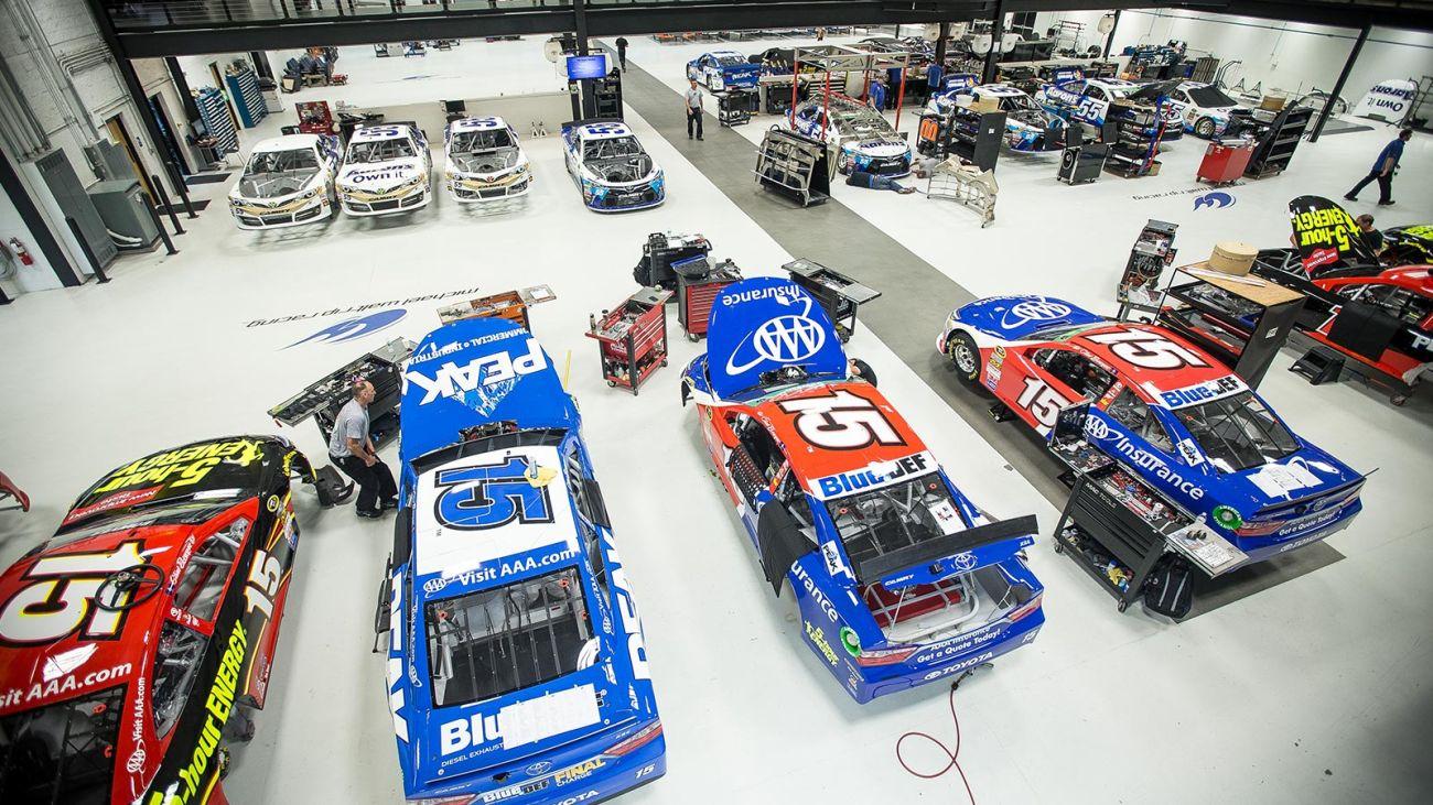 Inside Michael Waltrip Racing Shop For Sale - NASCAR Garage For Sale