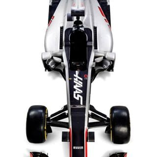 2016 Haas F1 Car Photos - Overhead Photo