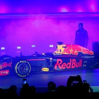 2016 Red Bull Racing F1 Car Side Photo