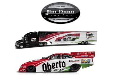 Jim Dunn Racing Oberto Beef Jerky Drag Racing Car 2016