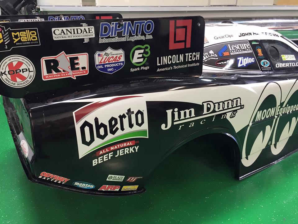 Jim Dunn Racing Oberto Beef Jerky Drag Racing Car 2016 Nitro Funny Car
