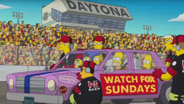 The Simpsons NASCAR Ad Video