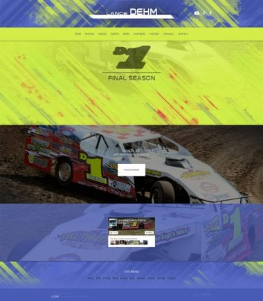 2016 Lance Dehm Racing Dirt Mod Website - Walters Web Design