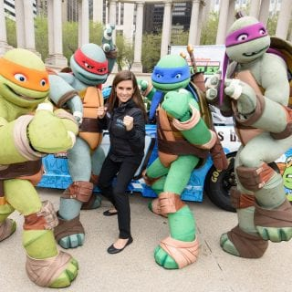 Danica Patrick Teenage Mutant Ninja Turtles NASCAR Racecar