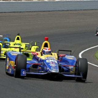 Alexander Rossi Leads at Indianapolis Motor Speedway