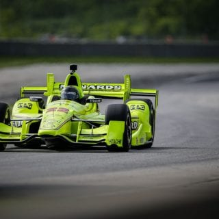 Brad Keselowski Indycar Road America Test Photos - NASCAR Driver Test Indy