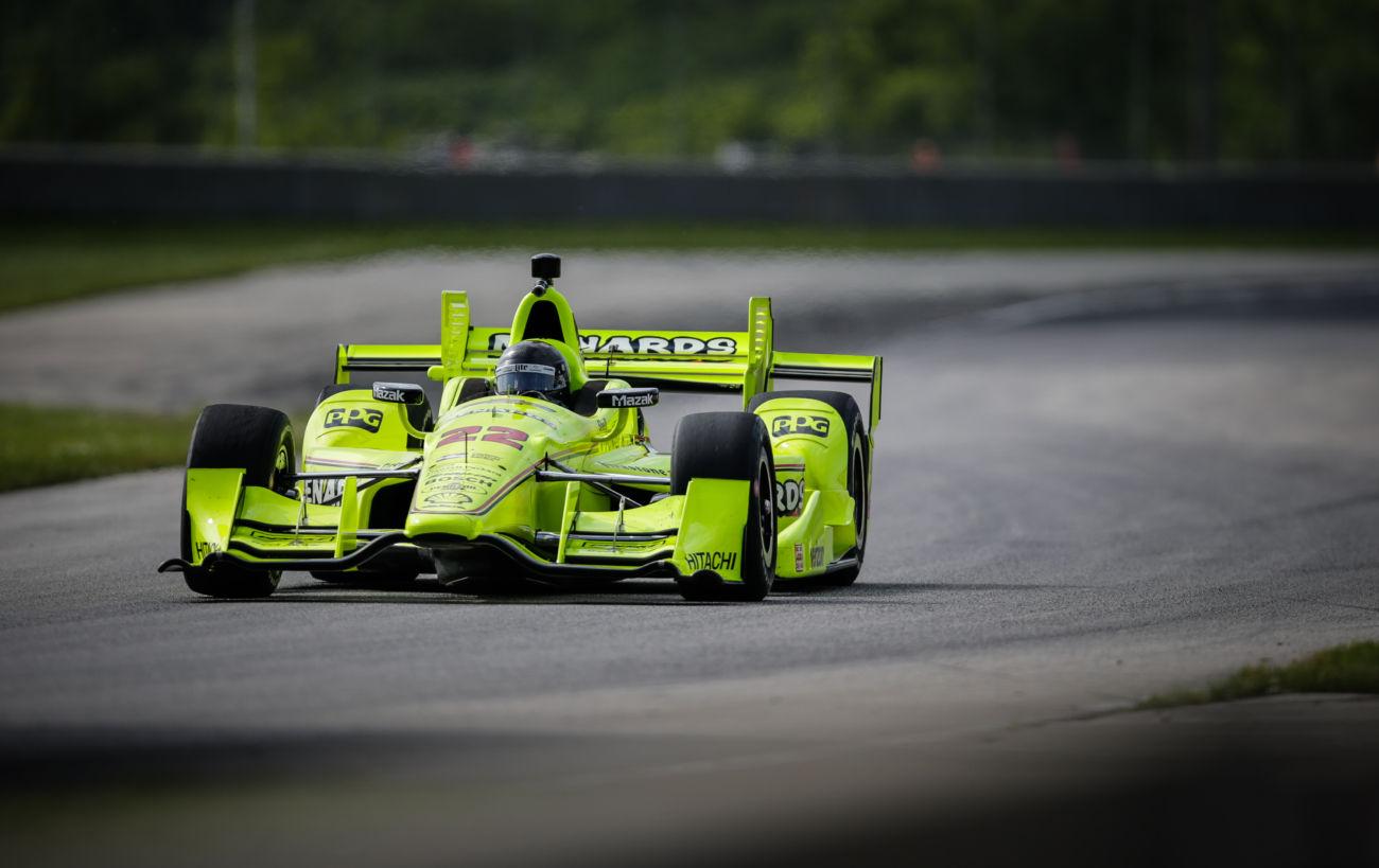 Brad Keselowski Indycar Road America Test Photos - NASCAR Driver Test Indy