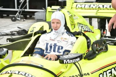 Brad Keselowski Indycar Test Photos - NASCAR Driver Test Indy