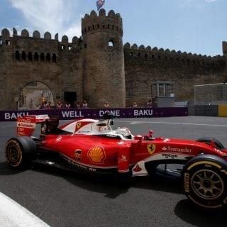 F1 Baku City Photos - Scuderia Ferrari Castle Europe