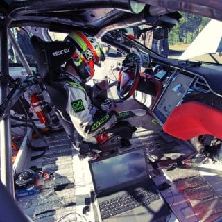 Interior Tesla Model S Race car Photos - Blake Fuller