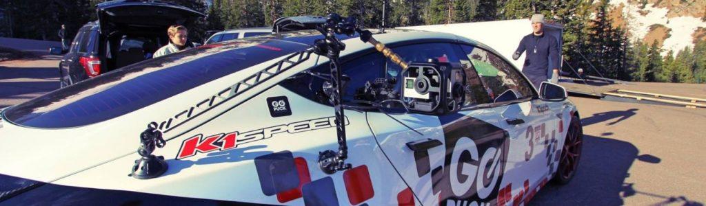 K1 Speed Partners with Tesla Racecar