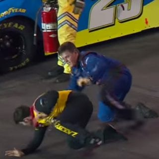 NASCAR John Wes Townley vs Spencer Gallagher Fight Photos