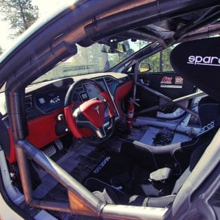 Tesla Model S Race car Photos Interior
