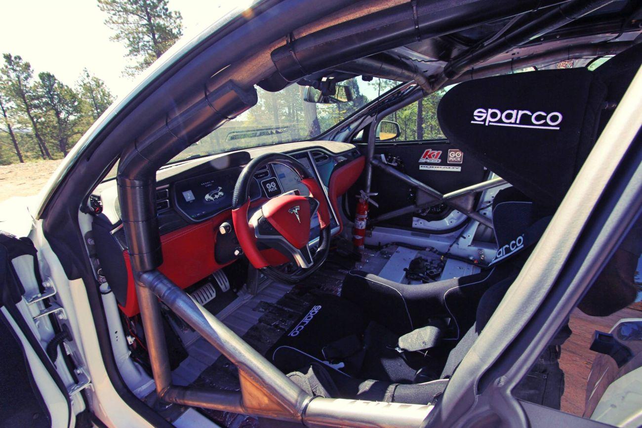 Go Puck Tesla Model S Racecar Ready For Pikes Peak Racing News