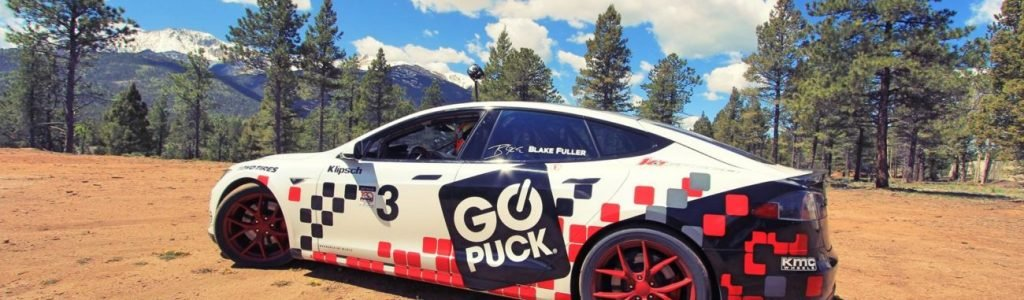 Go Puck Tesla Model S Racecar Ready for Pikes Peak