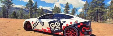 Go Puck Tesla Model S Racecar Ready for Pikes Peak