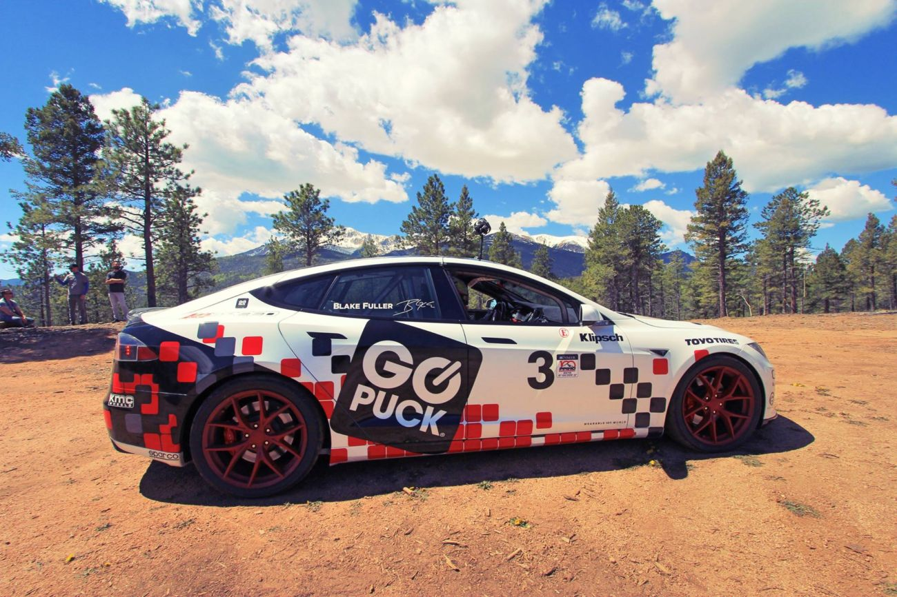 Go Puck Tesla Model S Racecar Ready for Pikes Peak  Racing News