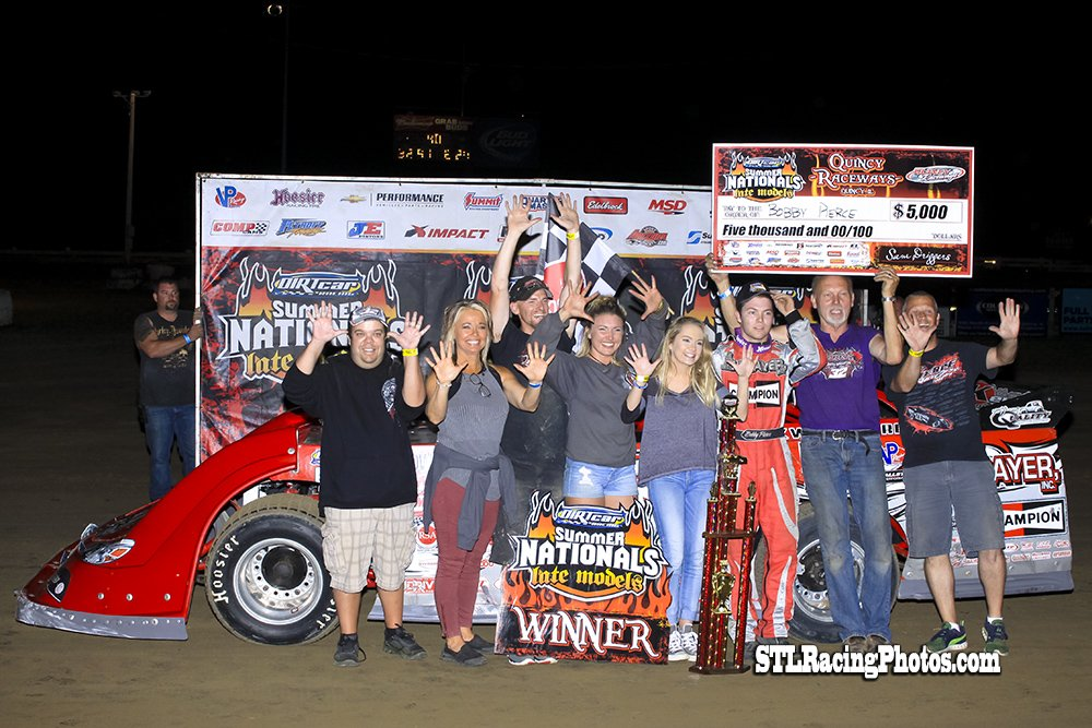 2016 DIRTcar Summer Nationals Quincy Raceways Results Led by Point Leader Bobby Pierce