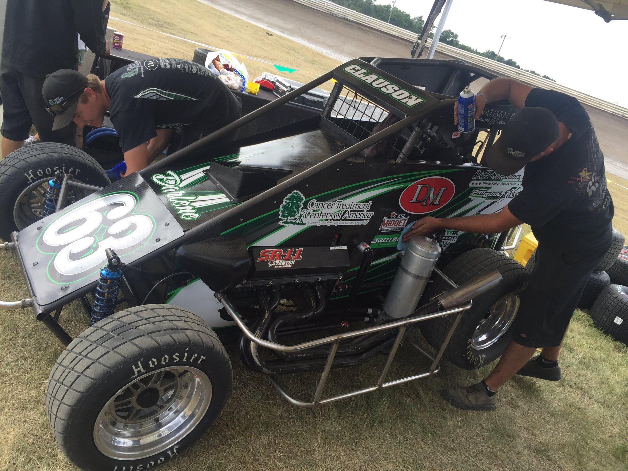 Bryan Clauson Crash USAC Belleville Midget Nationals