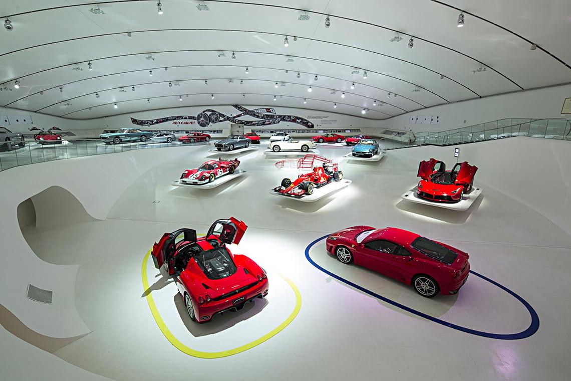 Museo Enzo Ferrari Modena Museum MEH 2016 Modern Car Exhibit Photos