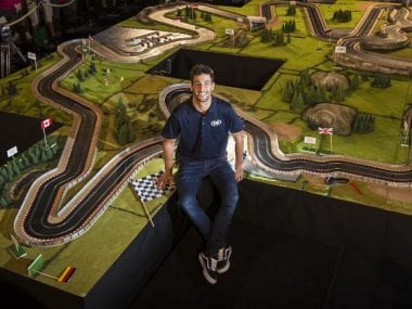 Daniel Ricciardo Slot Car Track Photo