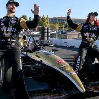 hinchcliffe gives dancing with the stars partner a ride at sonoma