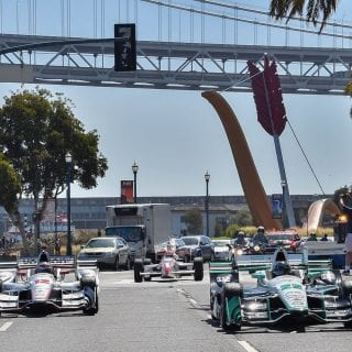 indycar-series-cars-cruise-san-francisco-pier-video