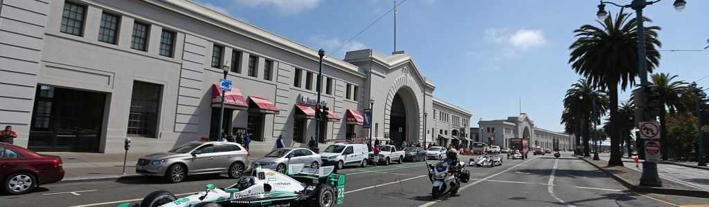 Indycars Cruise San Francisco Pier – Video