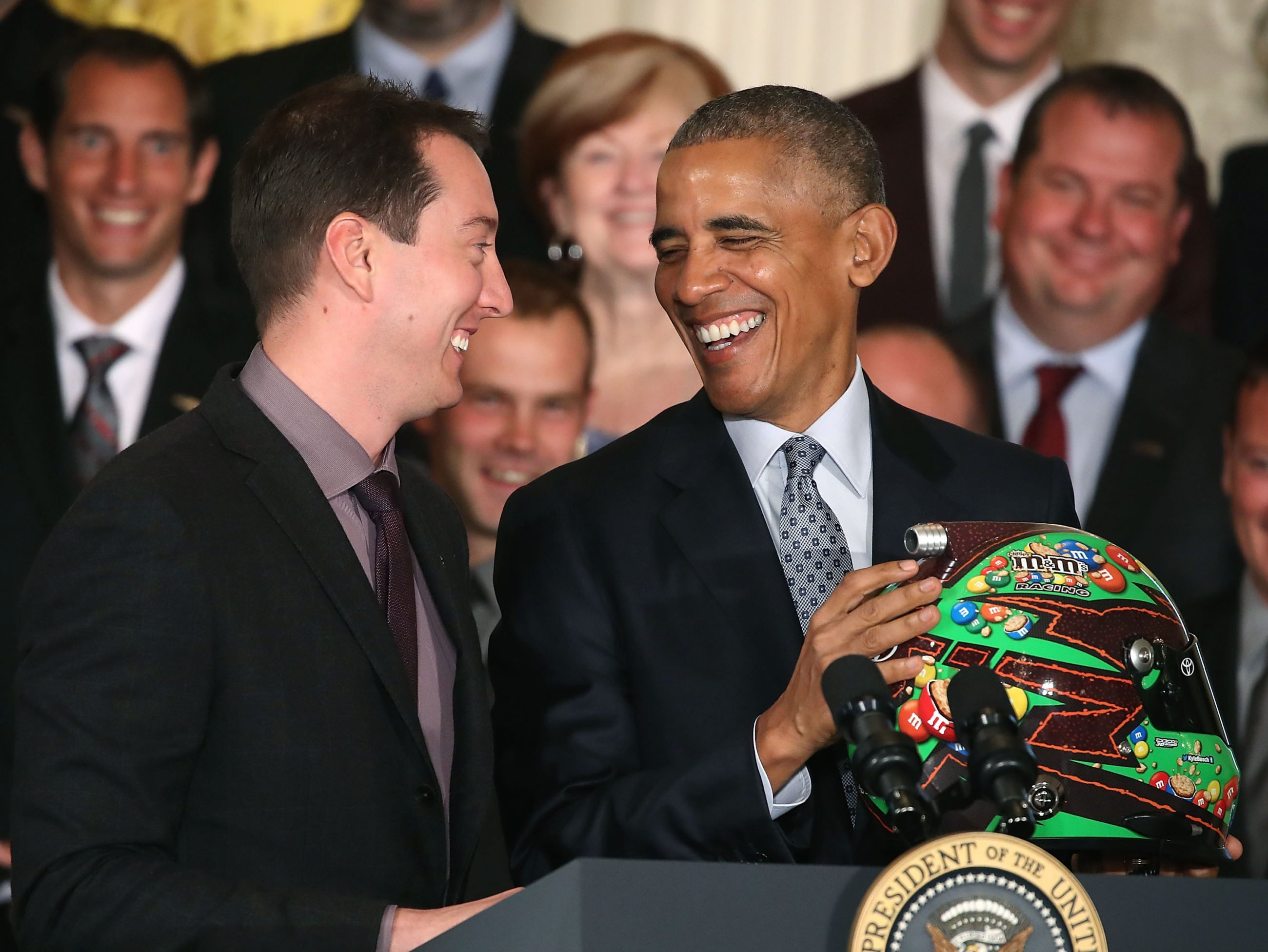 Kyle Busch Meets President Barack Obama