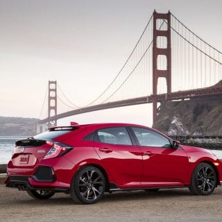 2017 Honda Civic Hatchback Golden Gate Bridge Photo