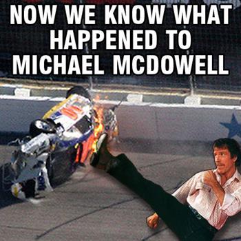 Chuck Norris NASCAR Memes