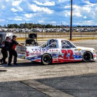 Donald J Trump NASCAR Truck Photos