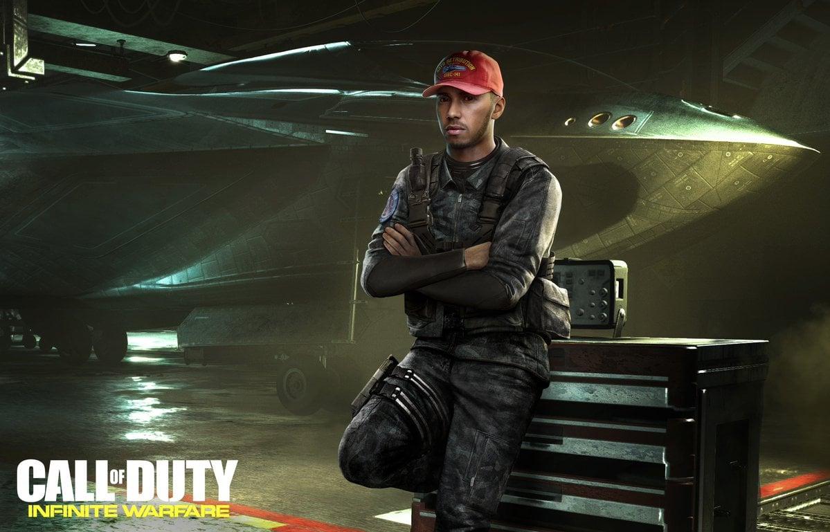 F1 Star Lewis Hamilton Call of Duty Character - Call of Duty- Infinite Warfare