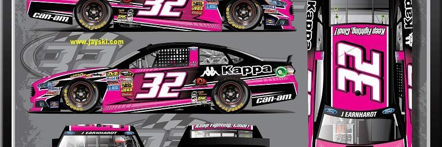 Jeffrey Earnhardt Pink Car for Charlotte