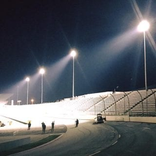 Lights at Martinsville Speedway Turned On