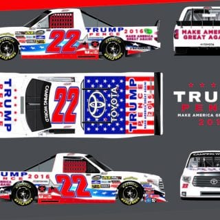 Trump NASCAR Truck Debuts at Talladega SuperSpeedway