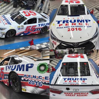 Donald Trump NASCAR Racecar