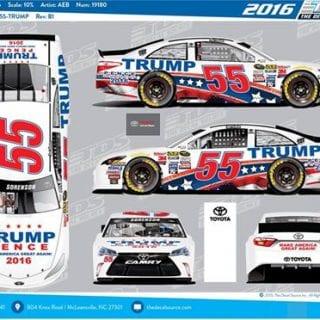Donald Trump NASCAR Sprint Cup Series Car Wrap