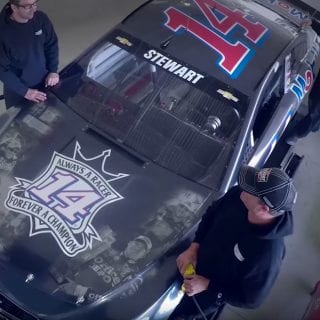 Last Tony Stewart Paint Scheme - Always a Racer Forever a Champion