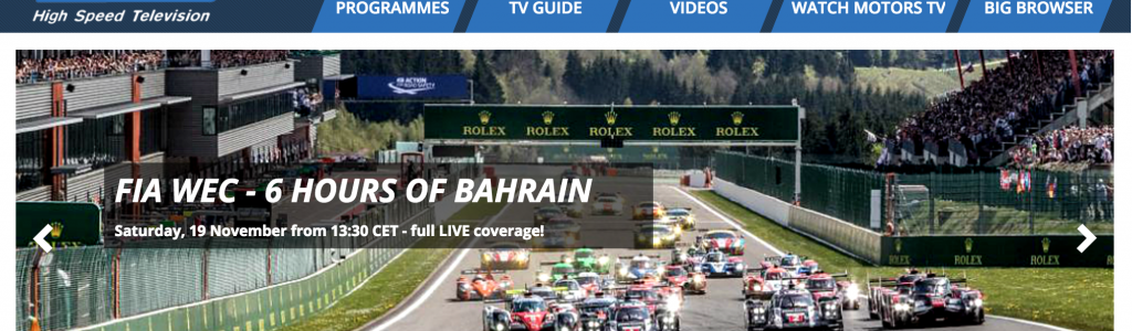 Motorsport Network Owns Motors TV as of Today