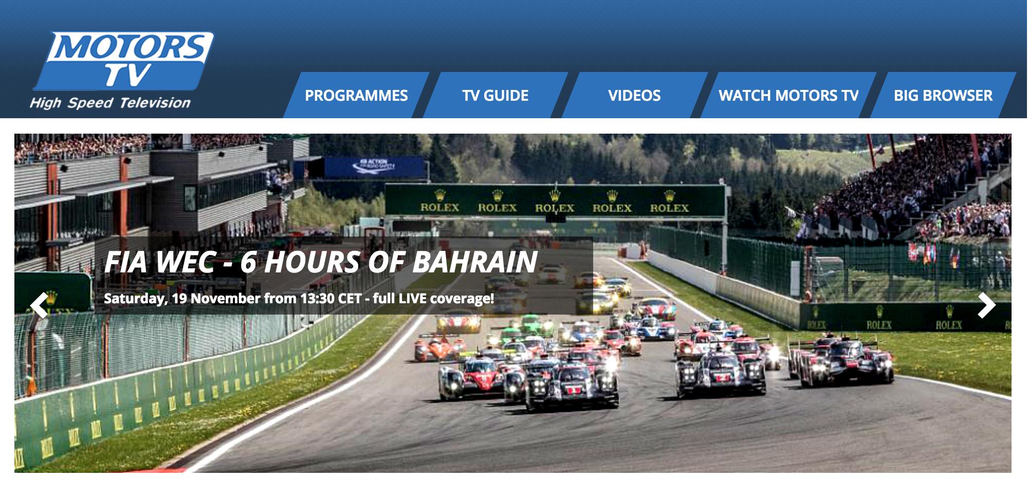 Motorsport Network Owns Motors TV as of Today
