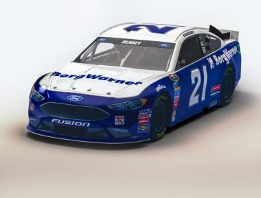 NASCAR BorgWarner Car Released - Wood Brothers Racing #21 Driven by Ryan Blaney