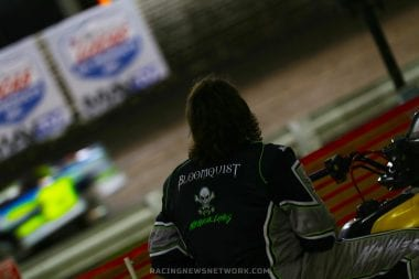 Scott Bloomquist on his 4 wheeler