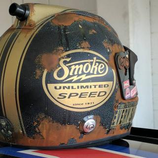 tony stewarts final helmet painting