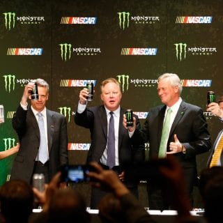2017 NASCAR Monster Energy Cup Series Toast - Deal Signed