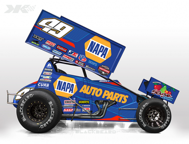2017 Napa Dirt Sprint Car Photos - Brad Sweet - Kasey Kahne Racing