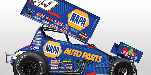 Brad Sweet 2017 Car Released – Napa Auto Parts Sprint Car