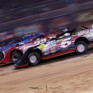 Dirt Late Models 3 Wide Photo 9175