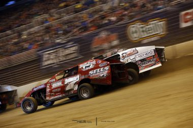 Dirt Modifieds 3 Wide Racing Photo