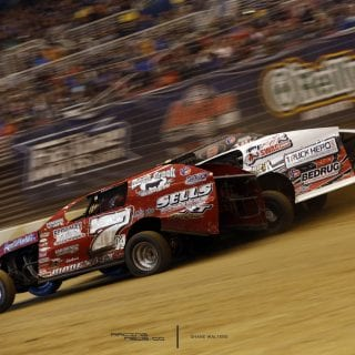 Dirt Modifieds 3 Wide Racing Photo 8636